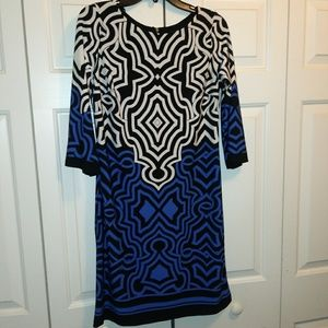 Pretty & Unique Fitted Tribal Print Dress